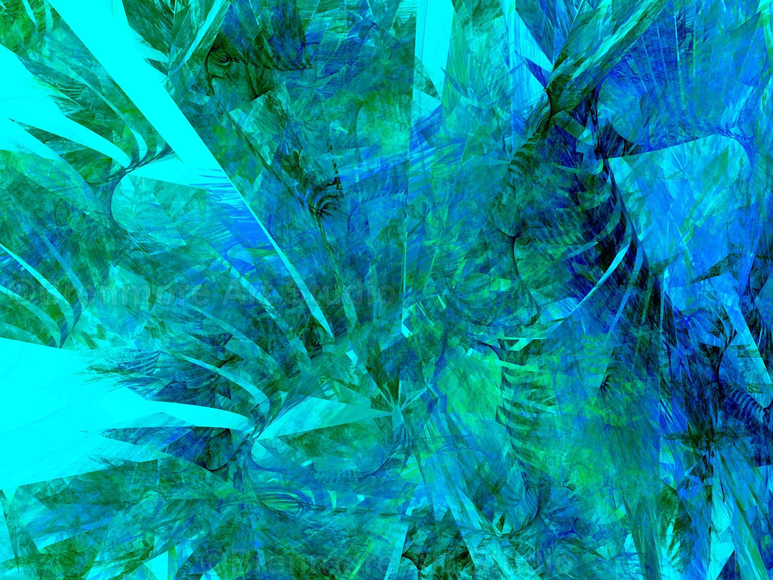 Tropical flora on aqua