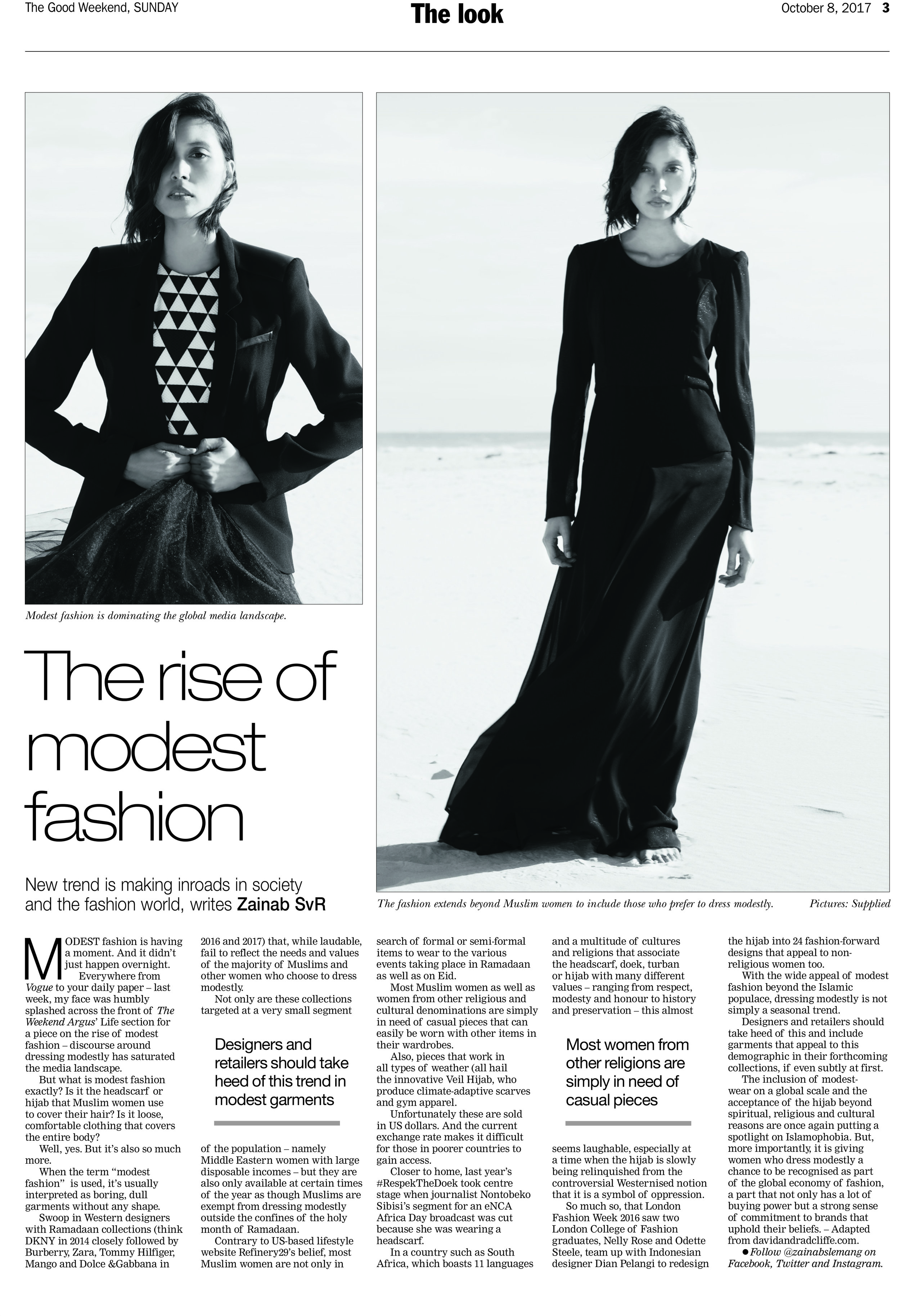 David & Radcliffe –Words – The rise of modest fashion