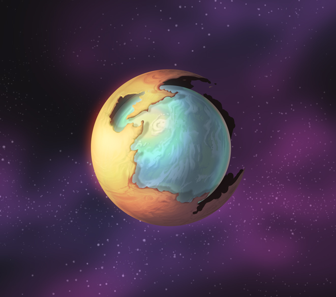 Option 3: Planet-dome is less opaque.