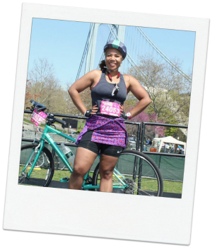 Feeling triumphant after the 5 Boro Bike Tour in NYC in 2014.