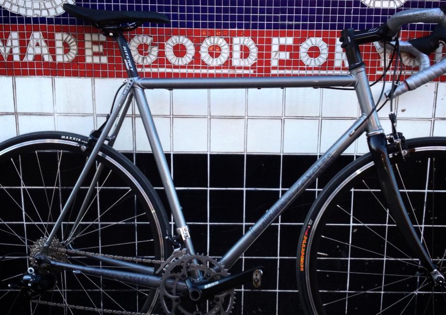 LaBerta custom steel bike grey