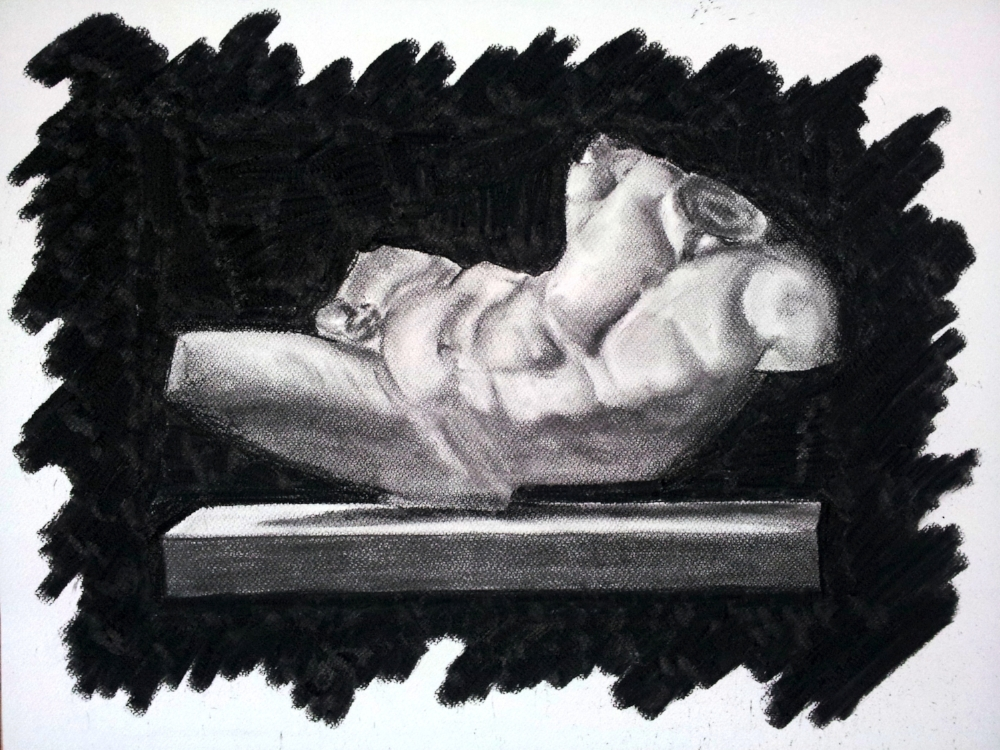 Classical Art Academy Students First Studies Charcoal