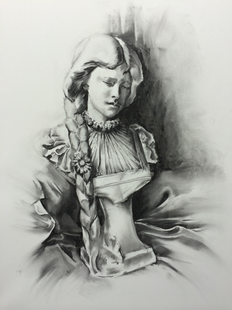 Classical Art Academy Students First Studies Charcoal Still Life