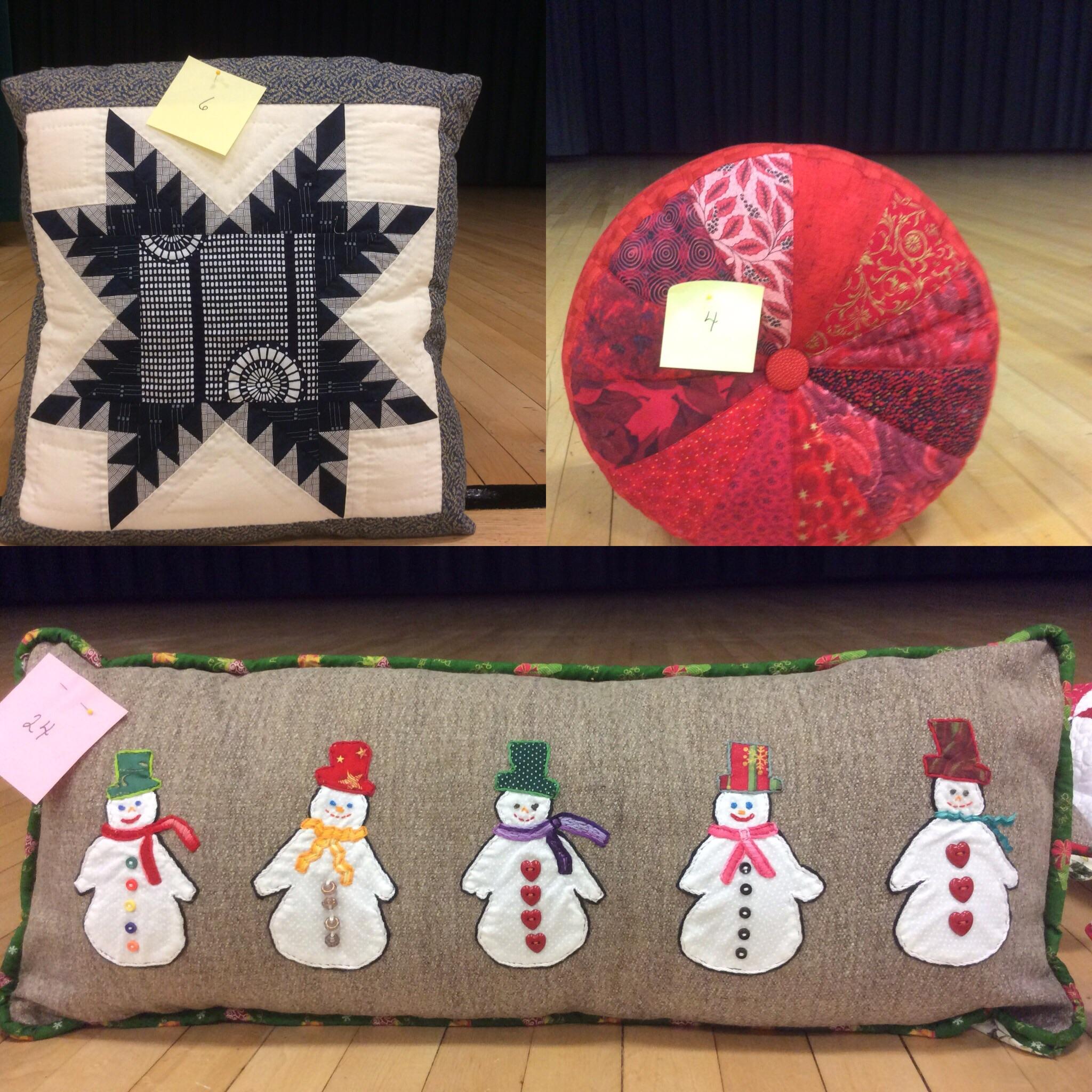 Summer Challenge Pillows: A three way tie!