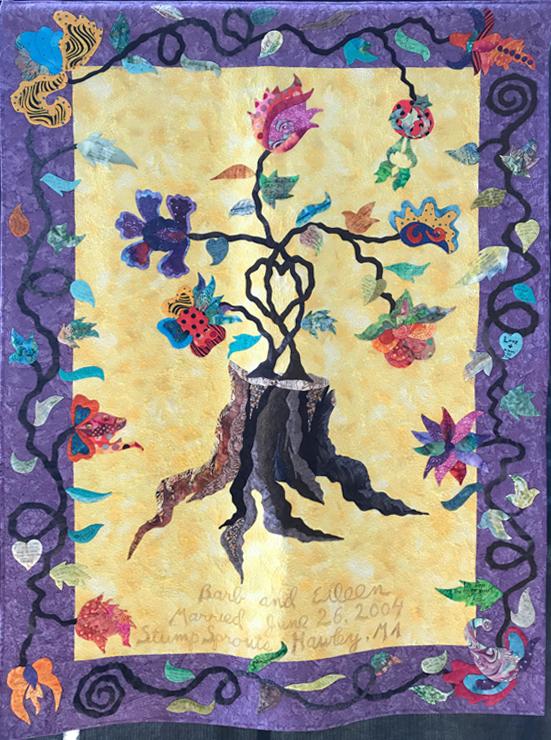 Wedding Quilt by Eileen Thurston