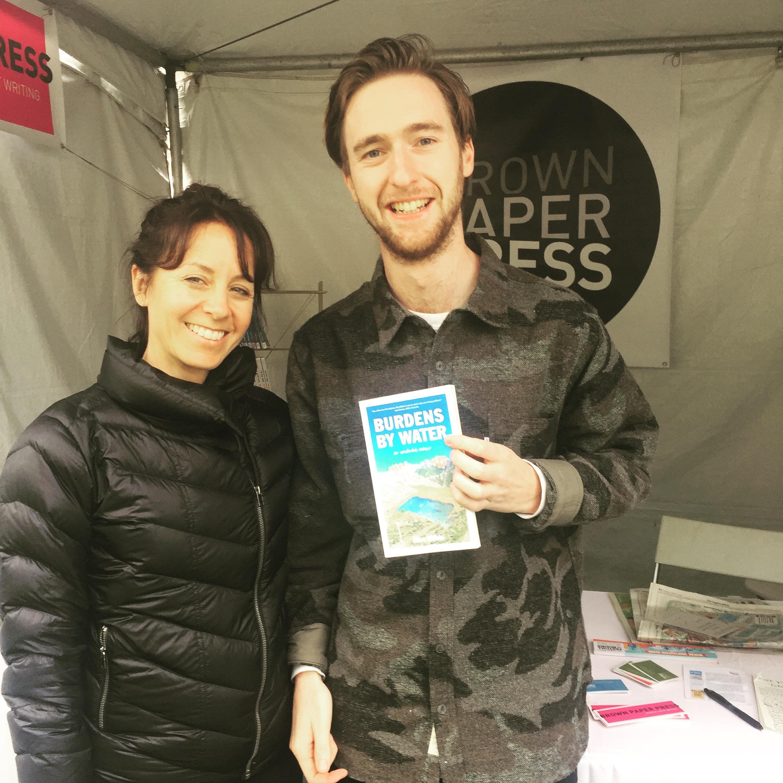 Jen with designer Ryan Doyle (of DR.ME)