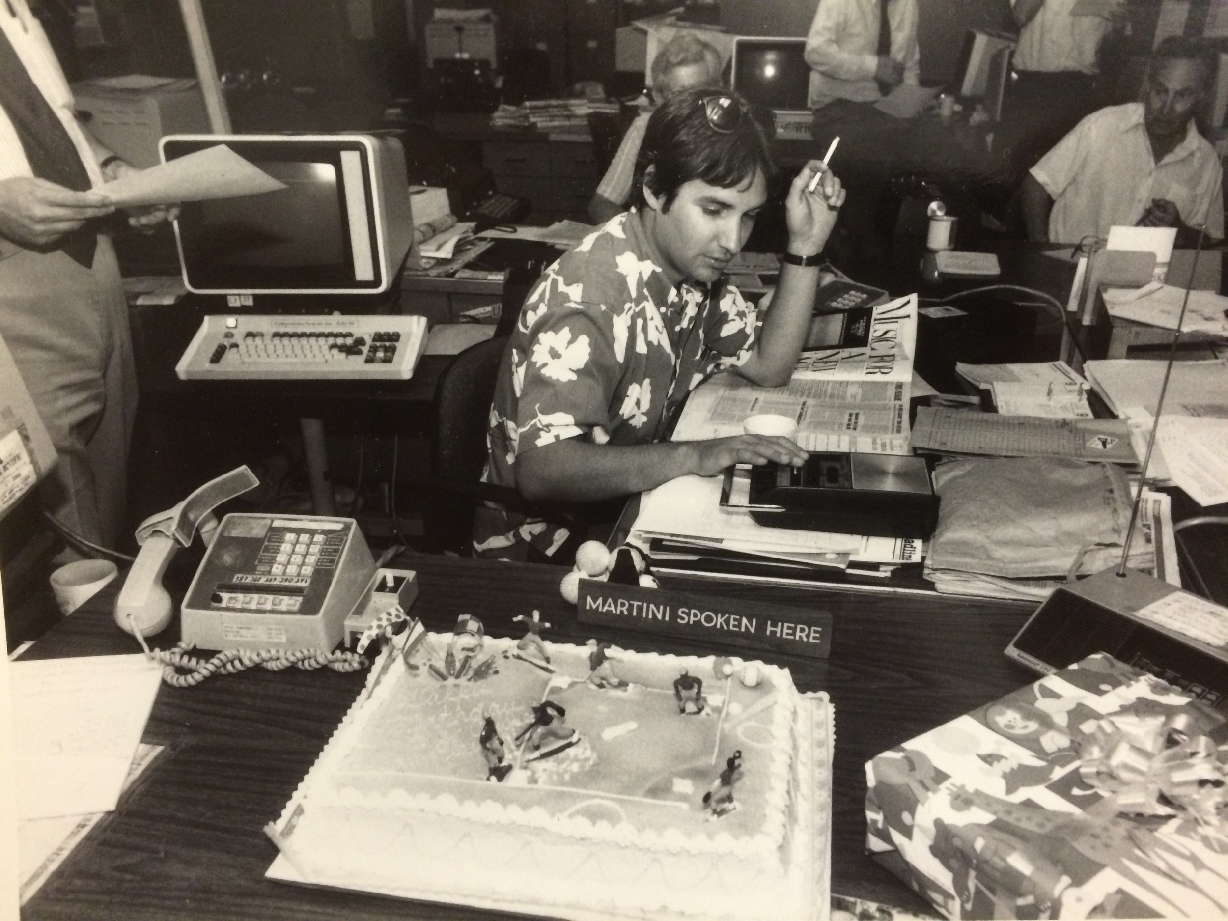 Tim Grobaty in the Press-Telegram newsroom: July 7, 1985