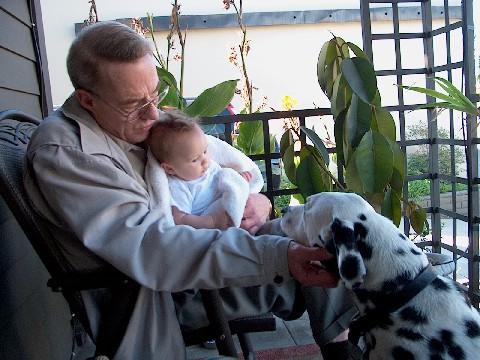 With Granddad & Henson.jpg