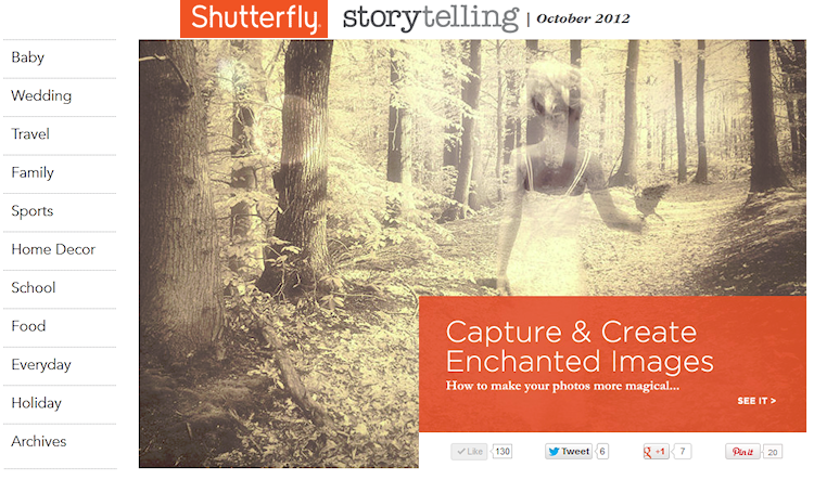 October 2012 // Featured at Shutterfly