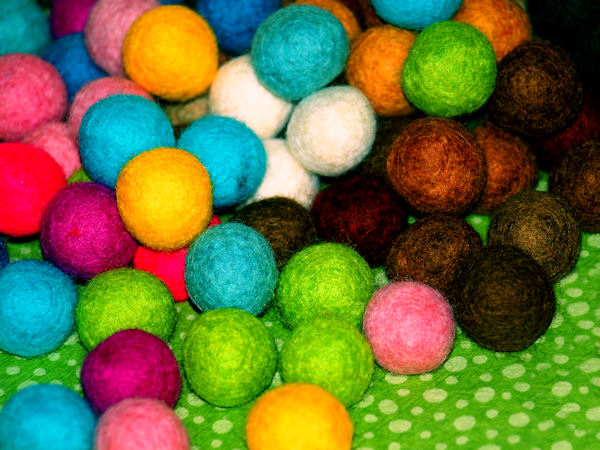 Felted Balls | Raleigh, North Carolina |© Christy Hydeck