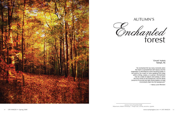 One of my photo spreads in Stampington's Life Images Magazine