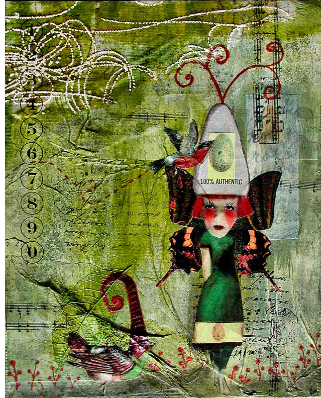 100% Authentic | Mixed-Media collage + Painting | © Christy Hydeck of Raleigh, North Carolina