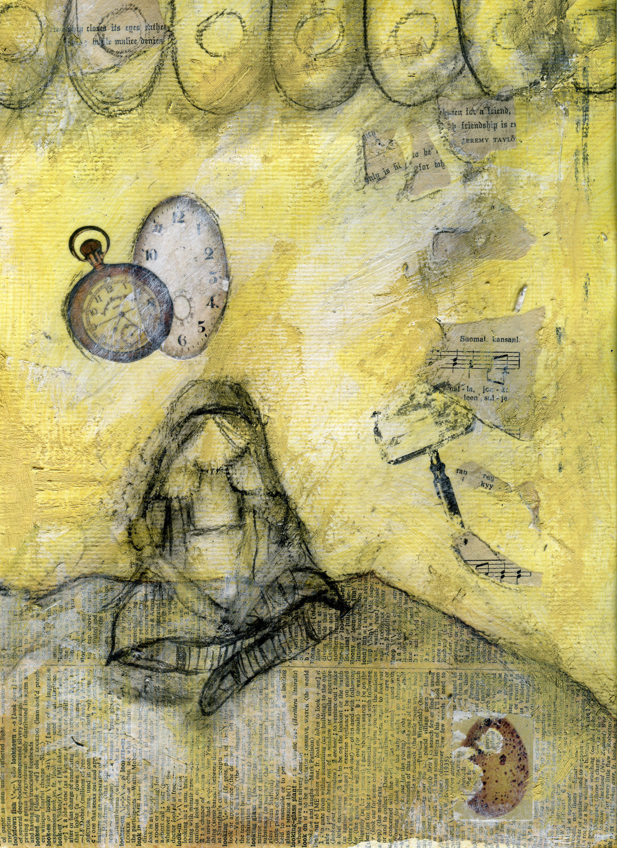 Work-In-Progress 1 | Down The Rabbit Hole | Mixed-Media |©Christy Hydeck