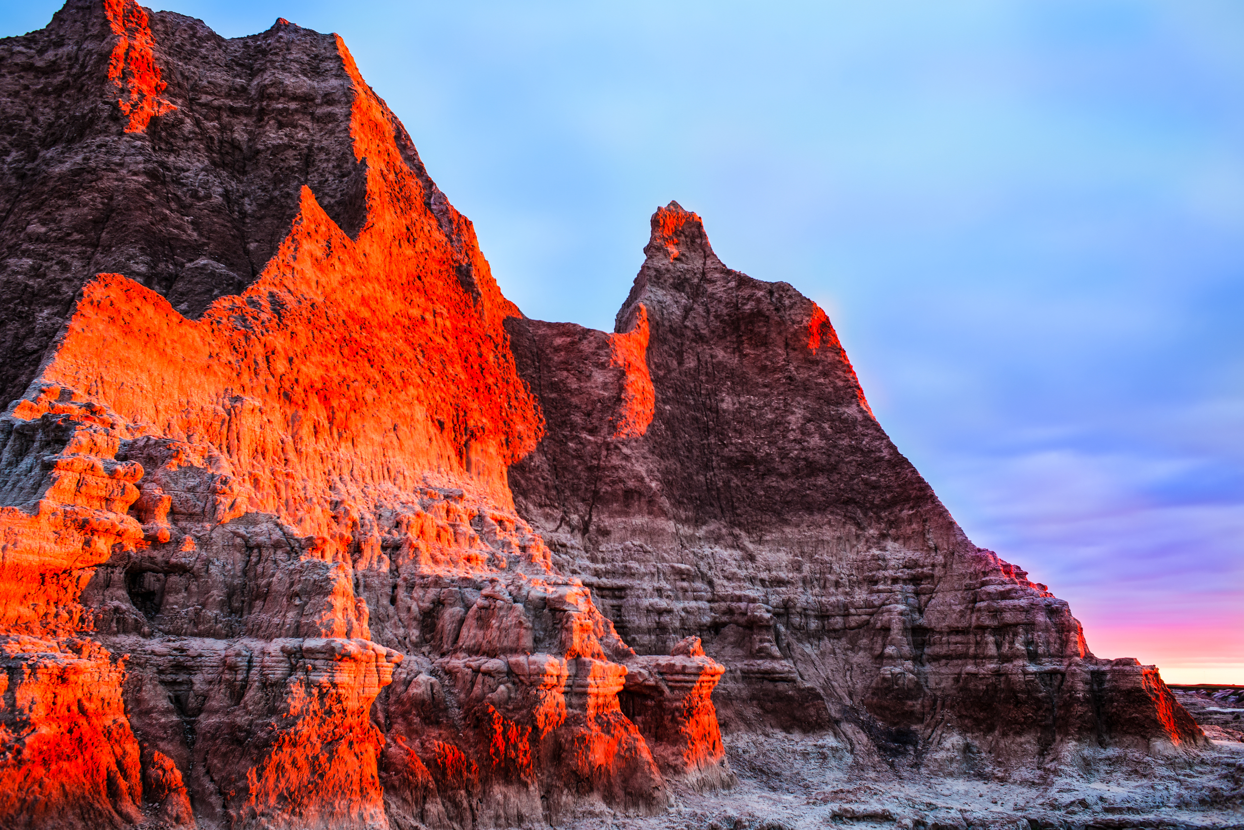 Click Photo to Enlarge | Sunrise at Badlands National Park, South Dakota | © Christy 'Chrysti' Hydeck