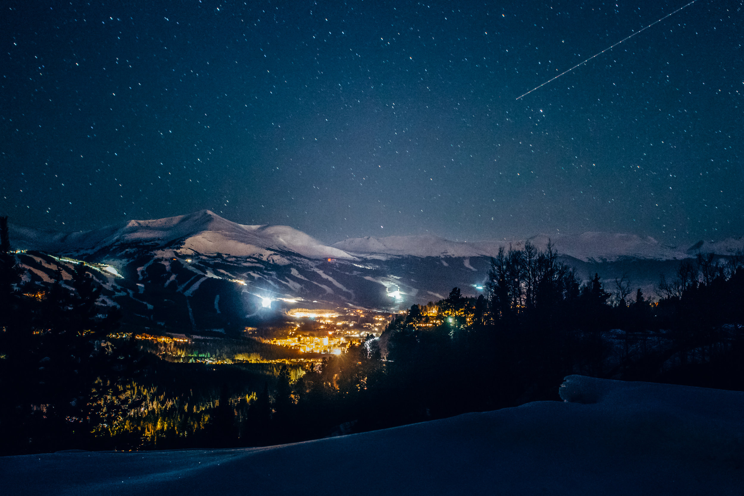 Breckenridge at Night | Breckenridge, Colorado | 2015 | © Christy Hydeck
