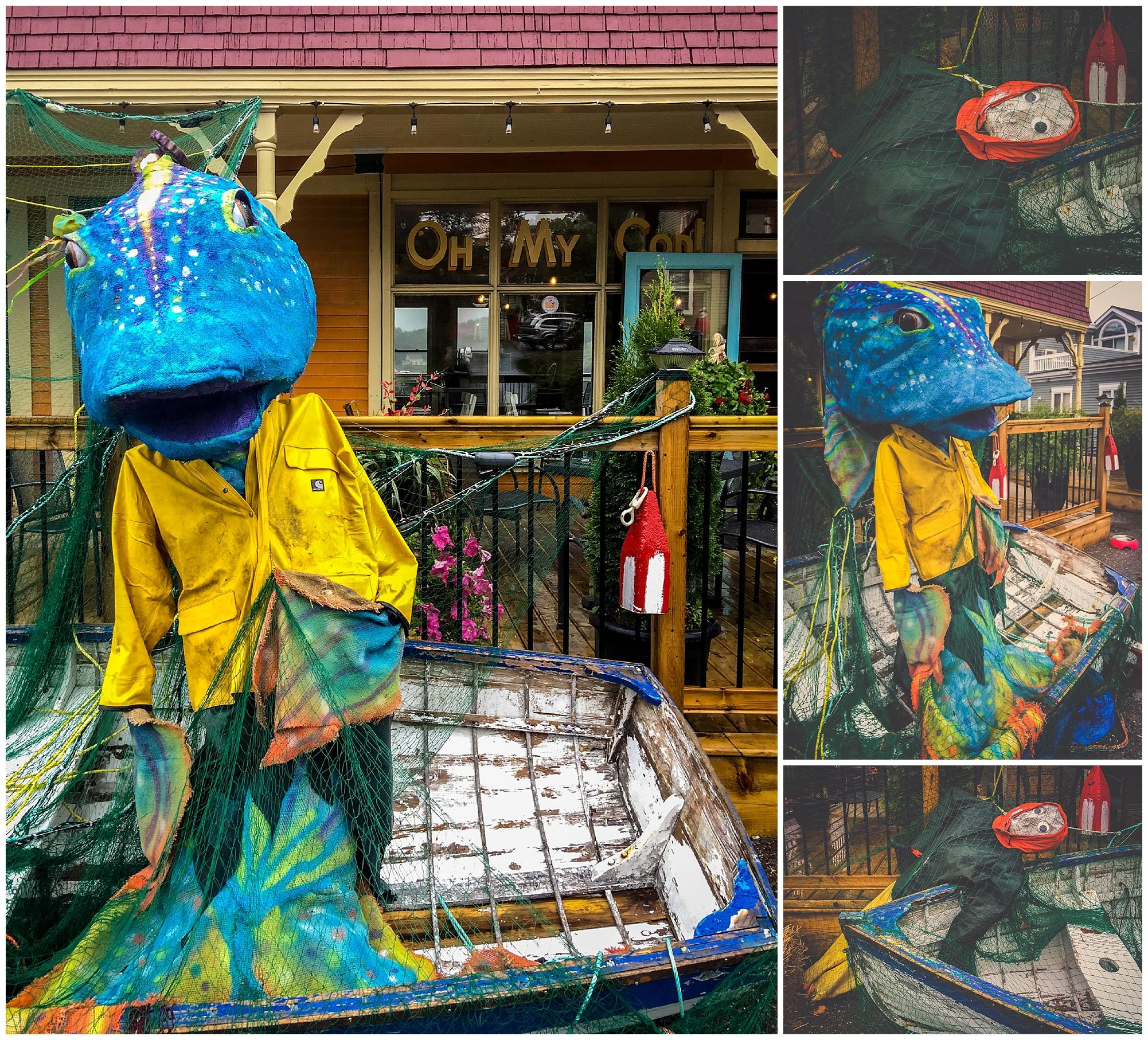 Oh My Cod! // 2016 Mahone Bay Scarecrow Festival // Nova Scotia, Canada //© Christy Hydeck
