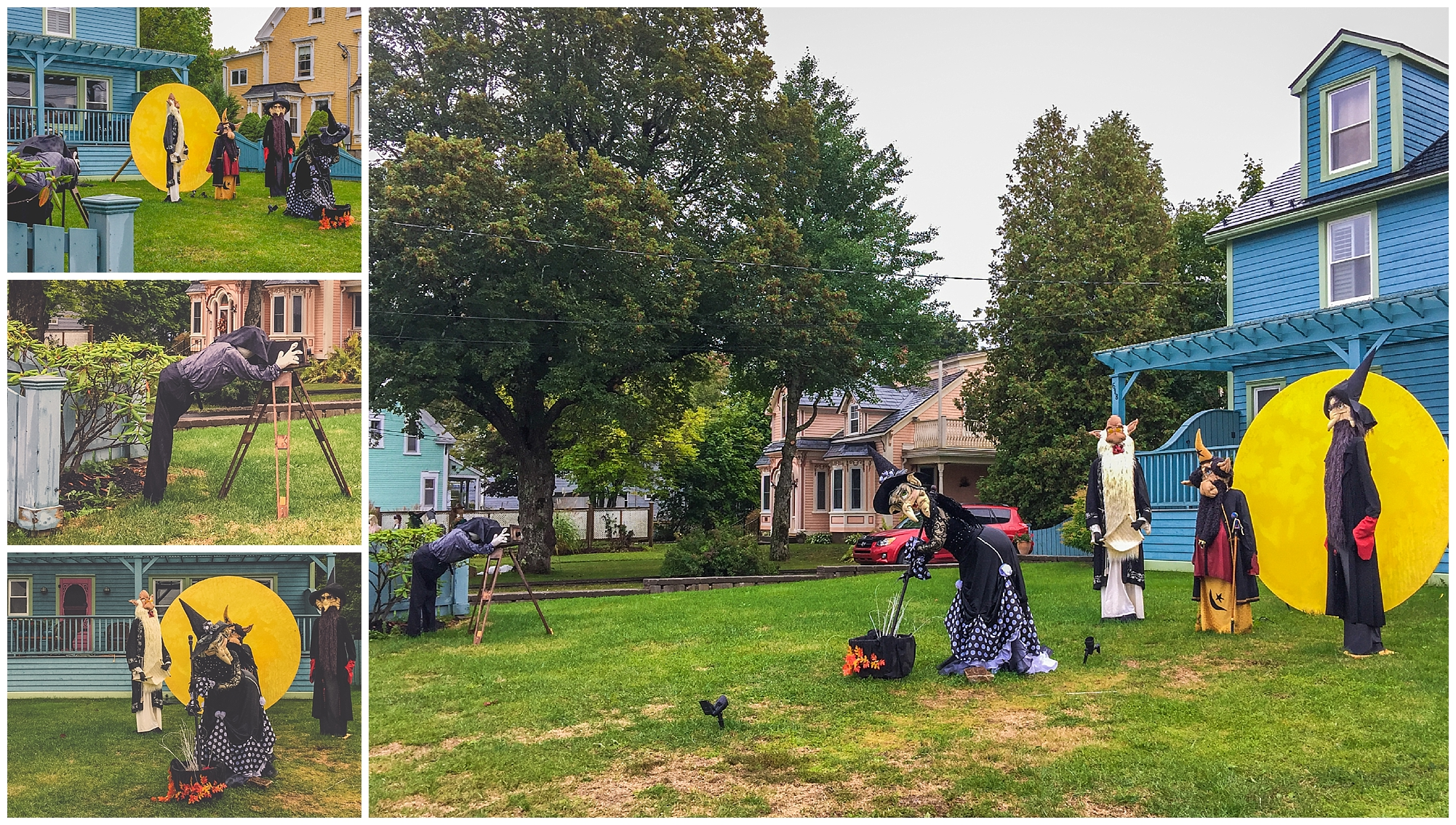 Photographer + Witches Full Moon // 2016 Mahone Bay Scarecrow Festival // Nova Scotia, Canada //© Christy Hydeck