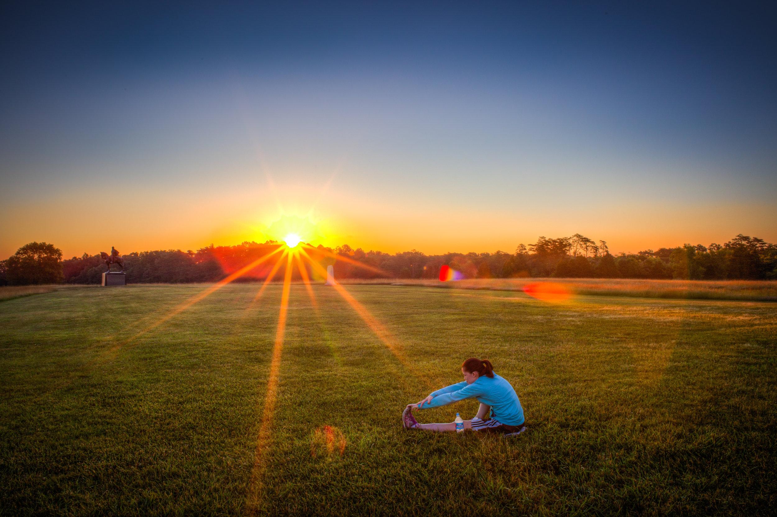 Sunrise at Manassas Battlefield Park | Manassas, Virginia | 2016 | Client: Deer Park Water | © Christy Hydeck