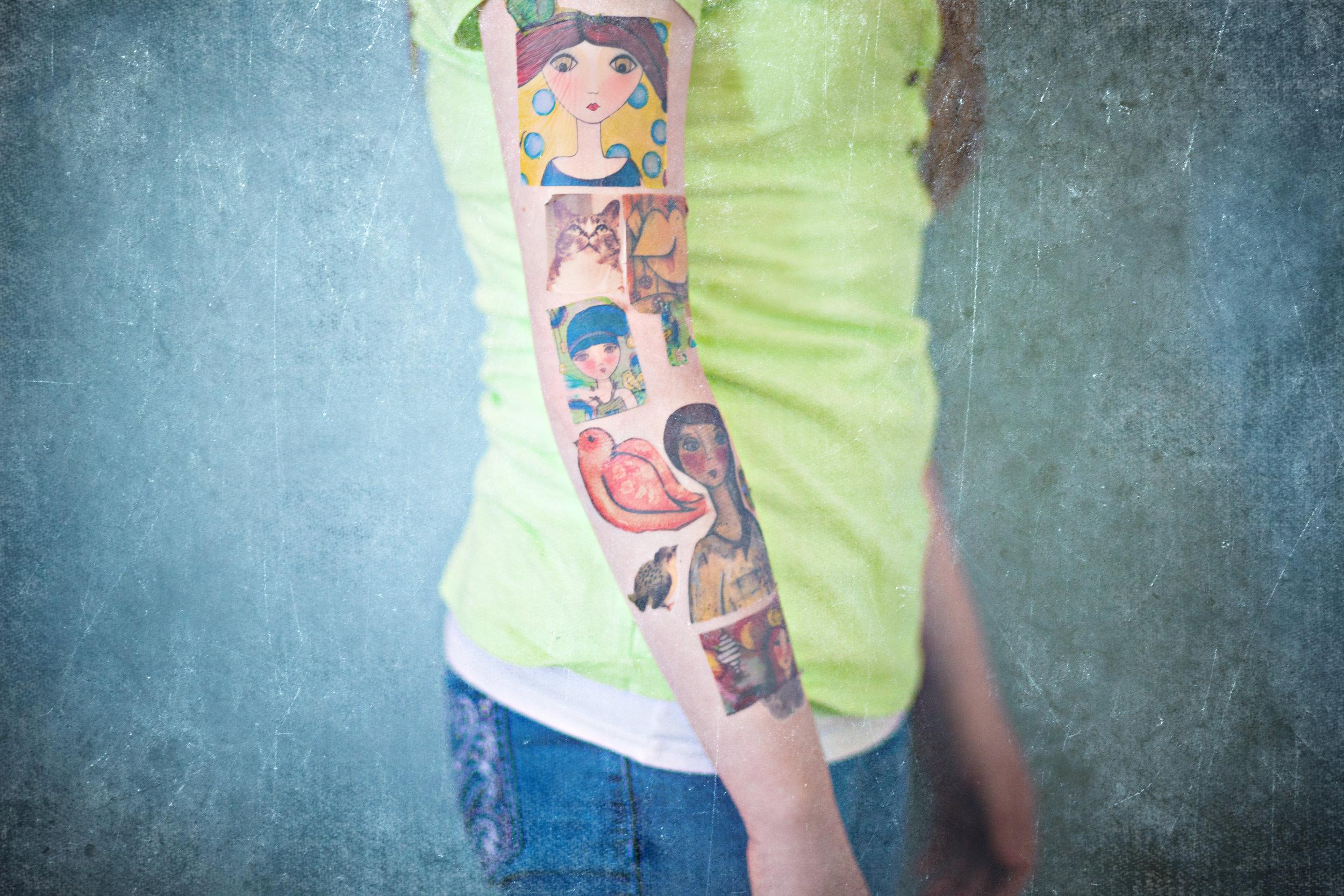 Memory Sleeves | DIY Temporary Tattoos At Home | 2011 | © Christy 'Chrysti' Hydeck