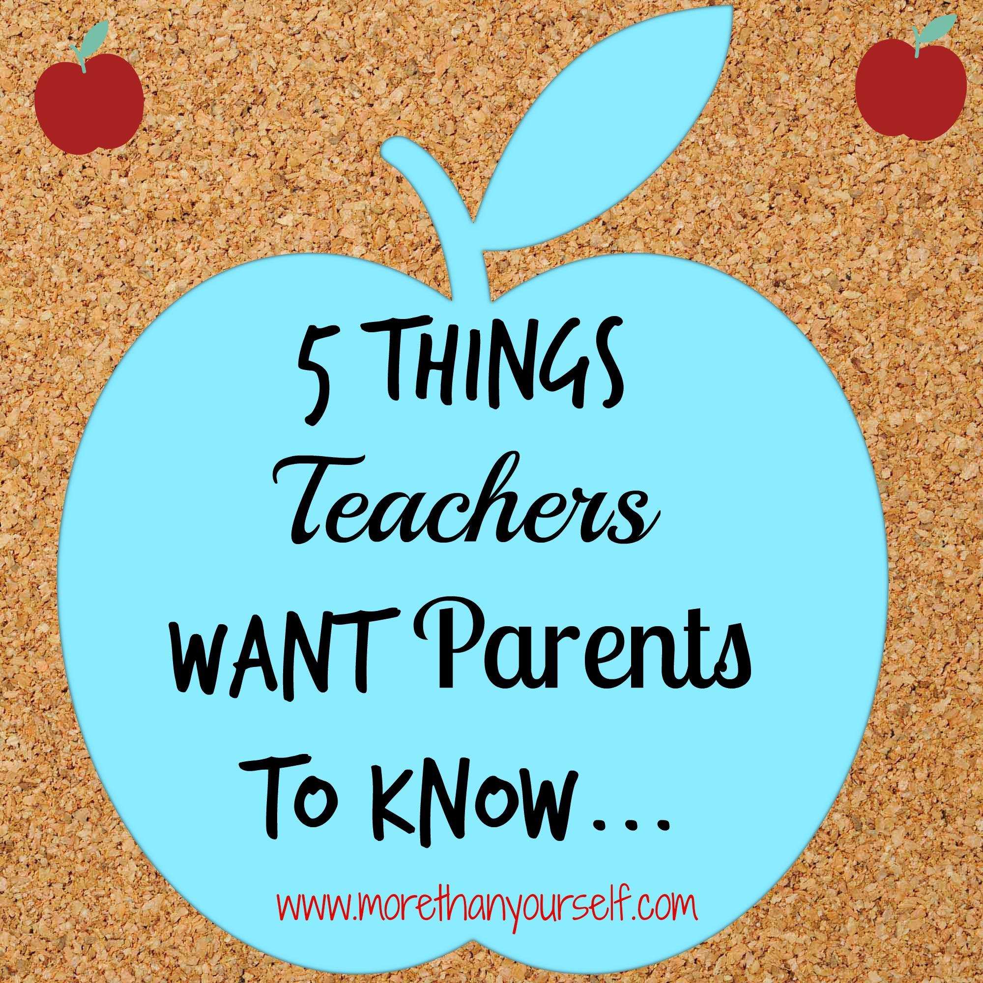 Teachers to Parents
