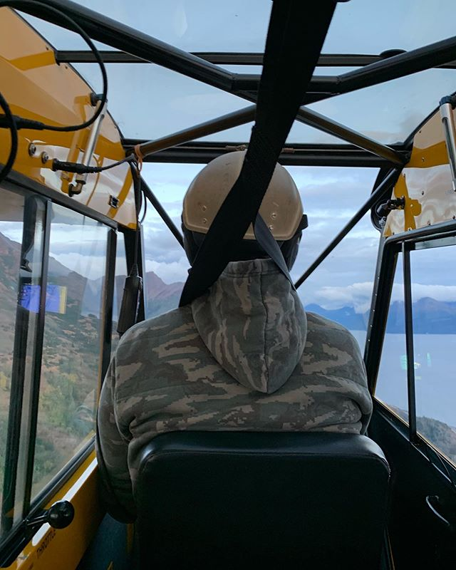 Back where it all started, in Uncle Ward's Super Cub.