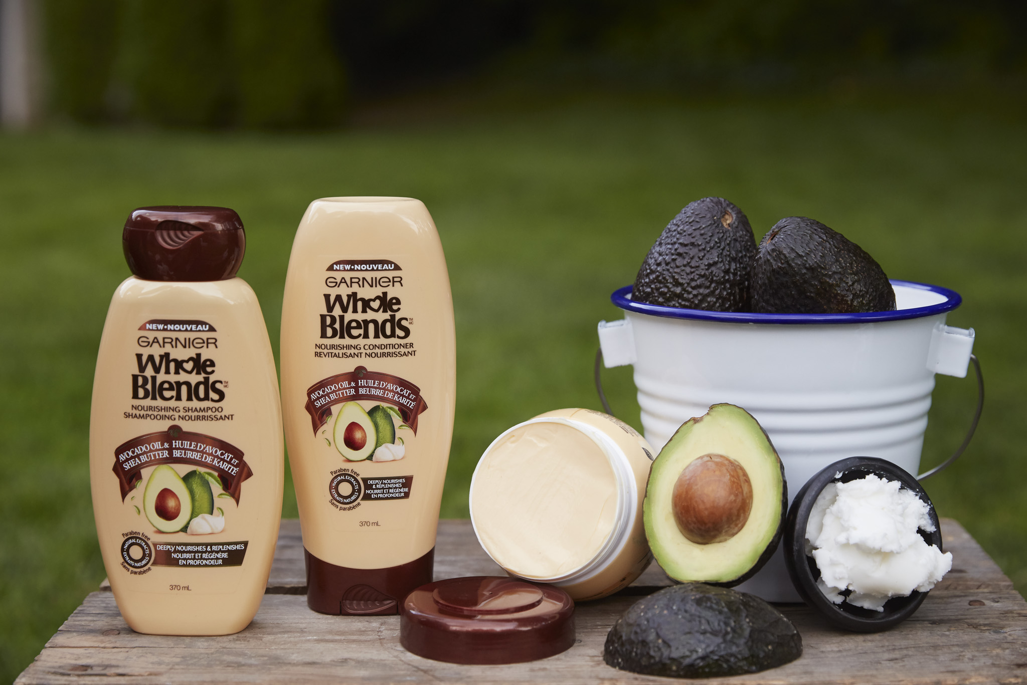 Product Advertising for Garnier Whole Blends