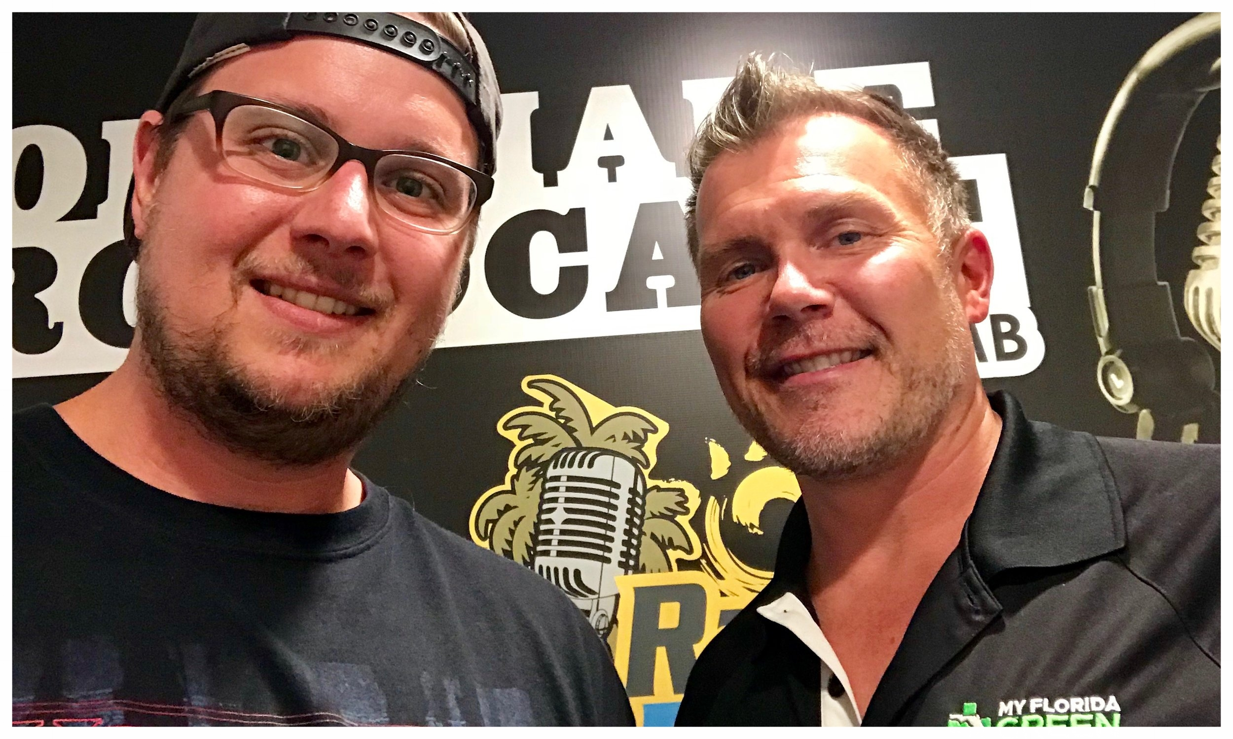 Nick Garulay from MyFloridaGreen.com & Your Boy Bill after recording The Homemade Broadcast on 03/29/2018.