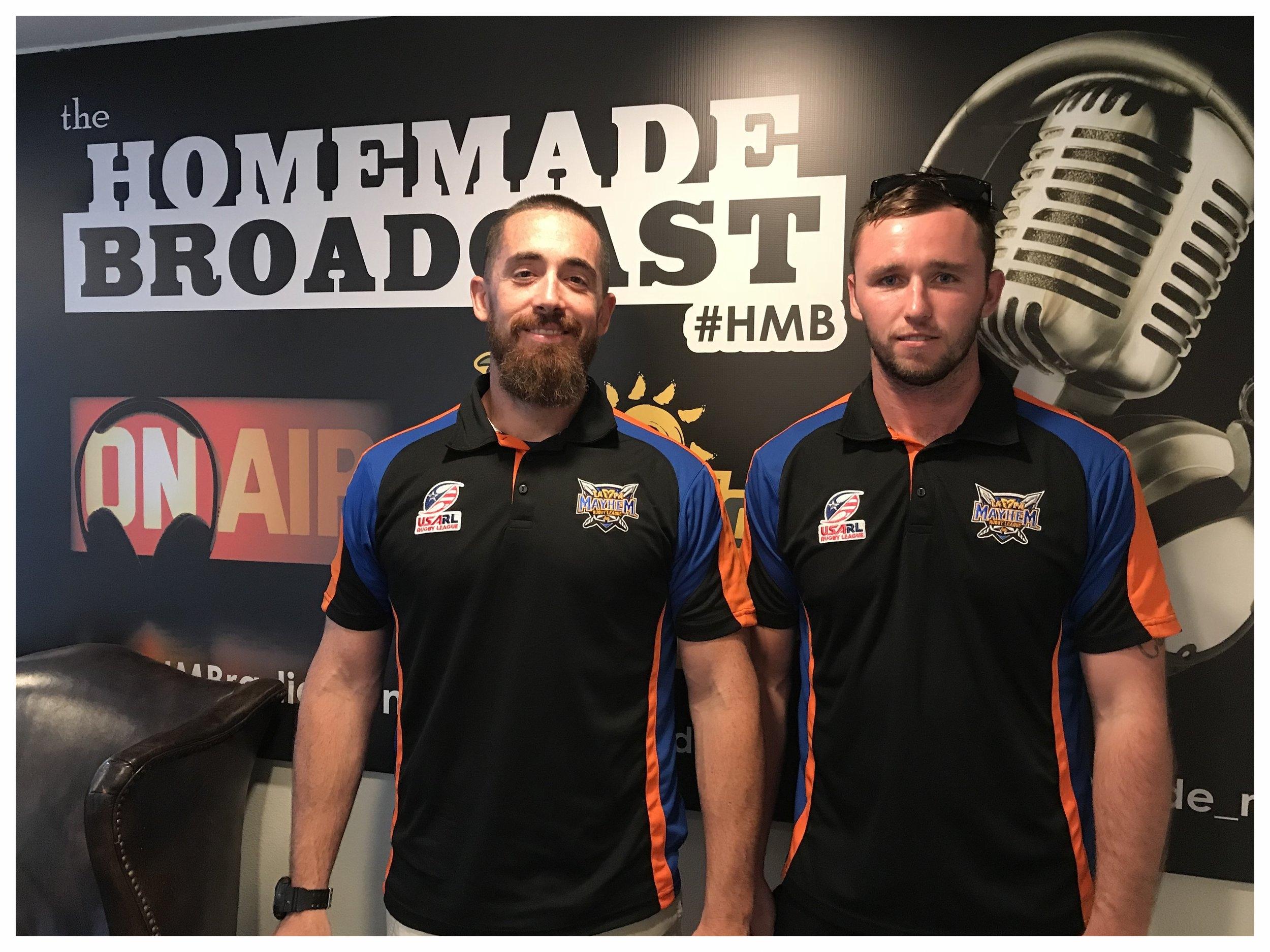 Billy & Josh from the Tampa Mayhem Rugby Club