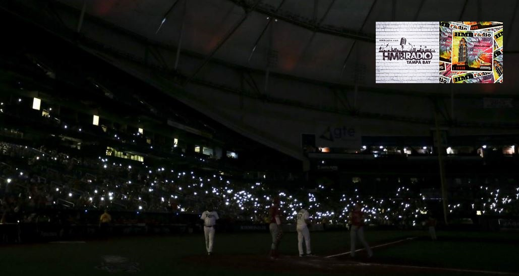 Rays lose power for 36 minutes during the Rays-Angels game on 06/13/2019 at Tropicana Field.