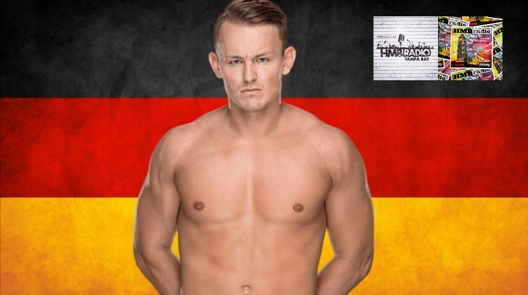 WWE NXT's Marcel Barthel who I am told is in fact not a Nazi but only looks like one.