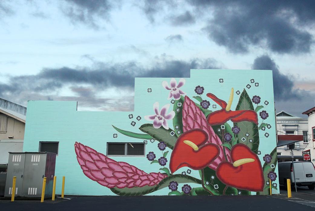 MURAL BY JET MARTINEZ ( @JETMAR1 ) ON FURNEAUX LANE IN DOWNTOWN HILO.