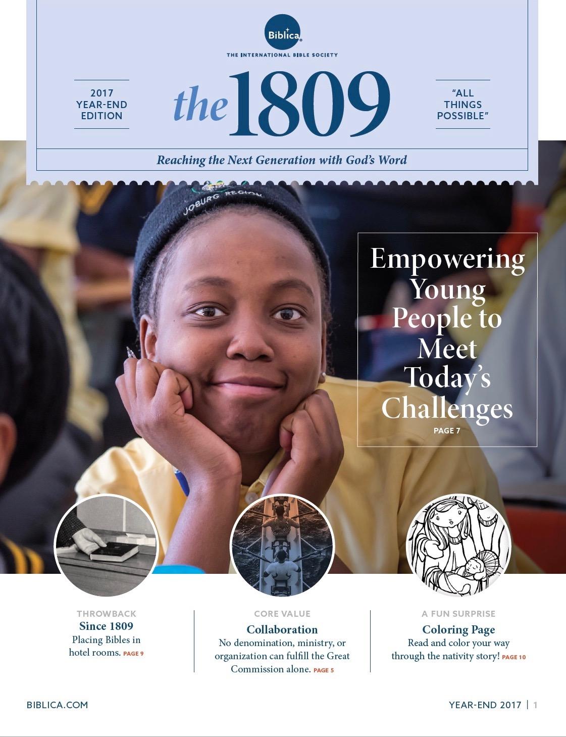 the 1809 Newsletter -