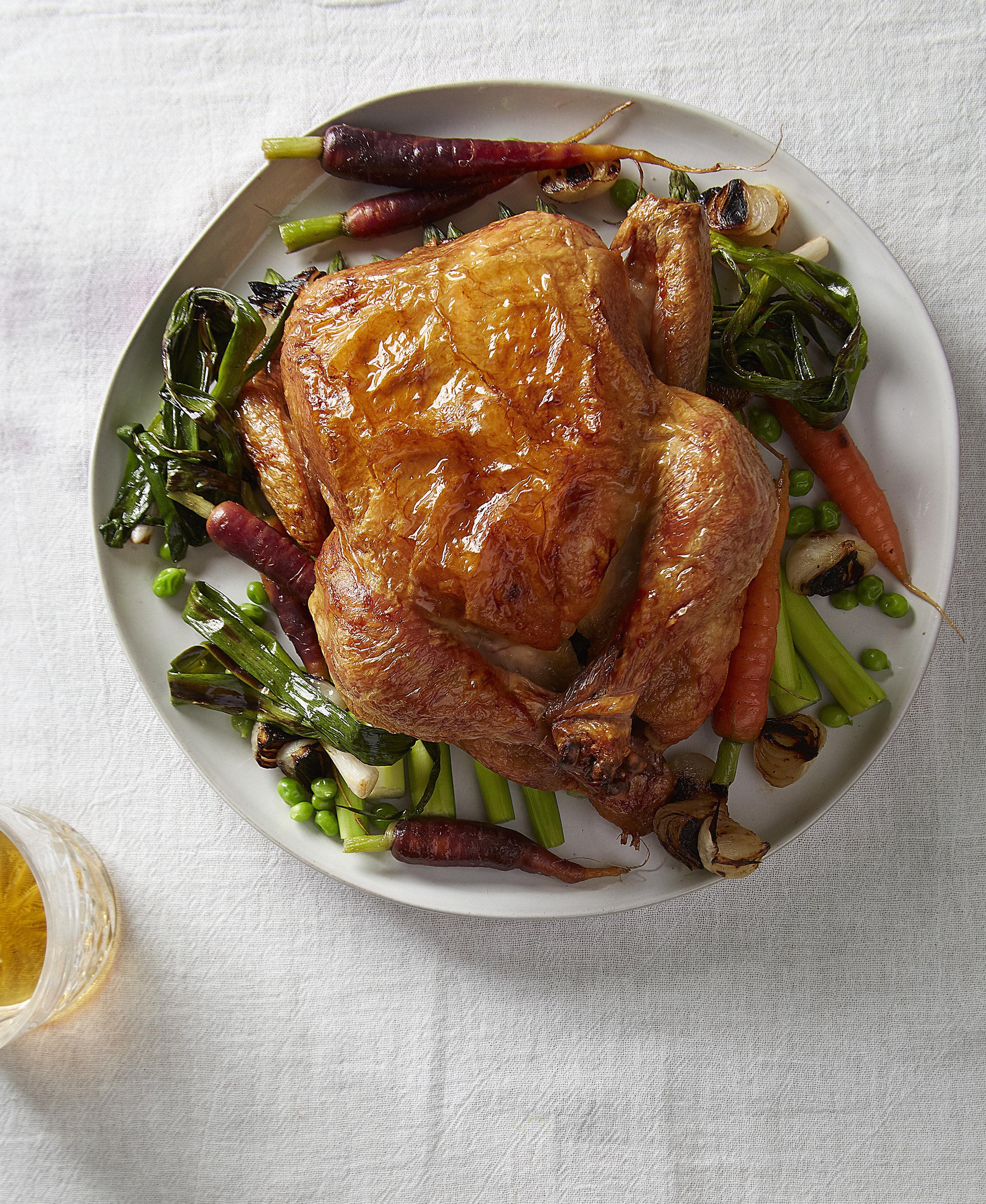 Roast Chicken-Spring Vegetables, Chicken Sauce