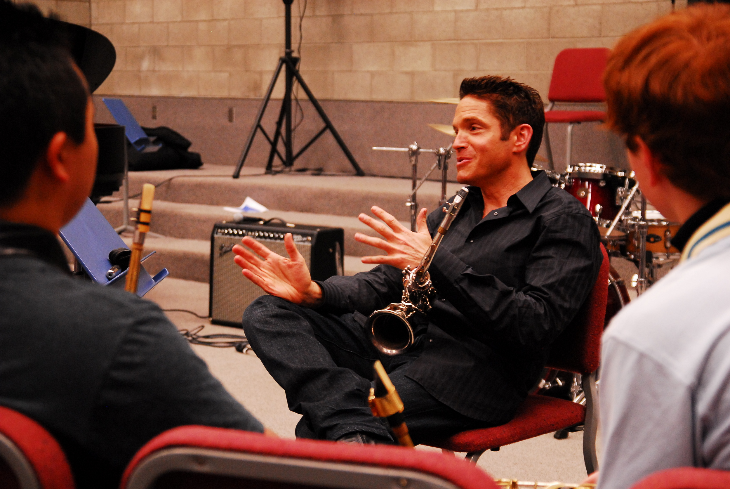 Dave Koz leads a Meet The Artist Session