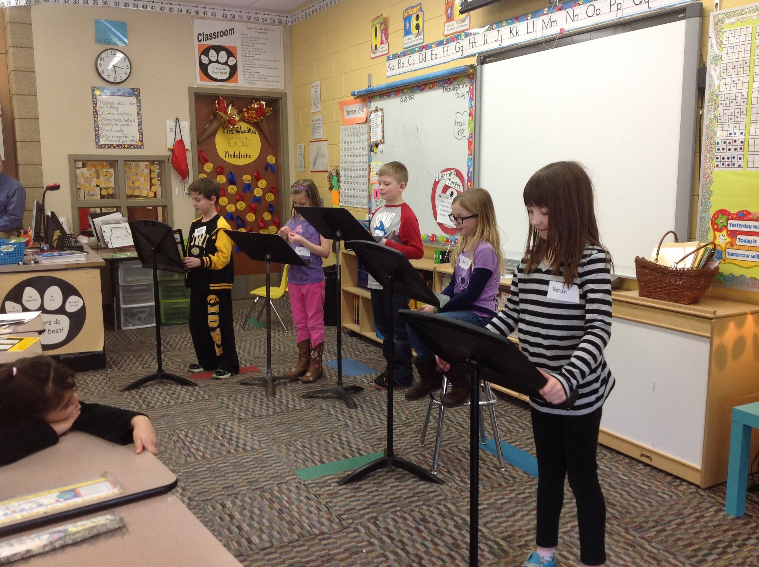 Students perform a Readers Theatre as a summation to a unit.