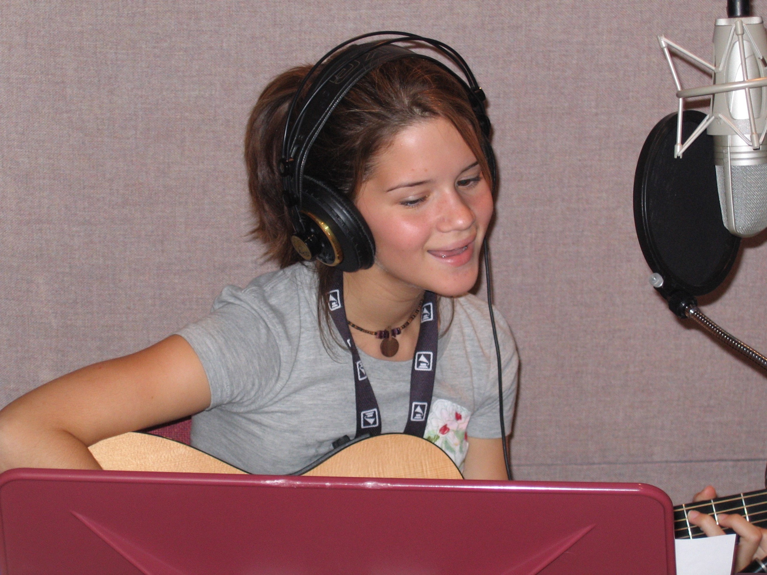 Maren in here element - the recording studio