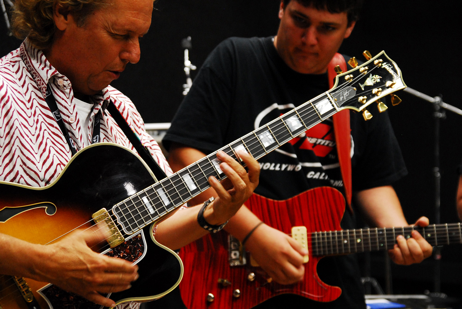 Lee Ritenour & Guitar Track Camper in a Meet the Artist Session