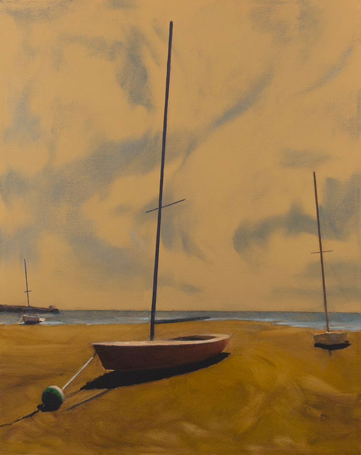 "Anchored Three   16"" x 20"" oil on canvas"