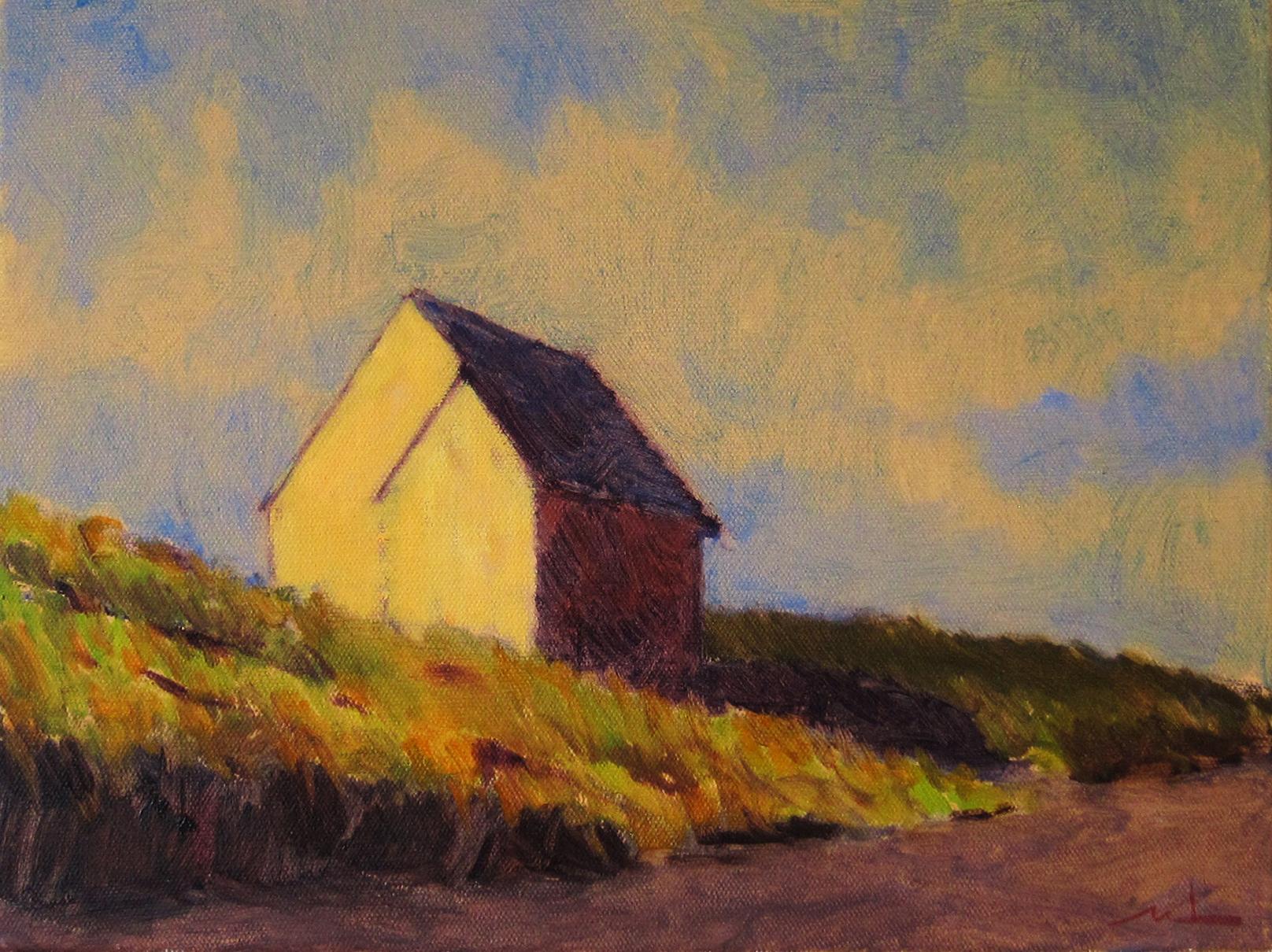 """Wellfleet Cottage   10"""" x 14"""" oil on canvas"""