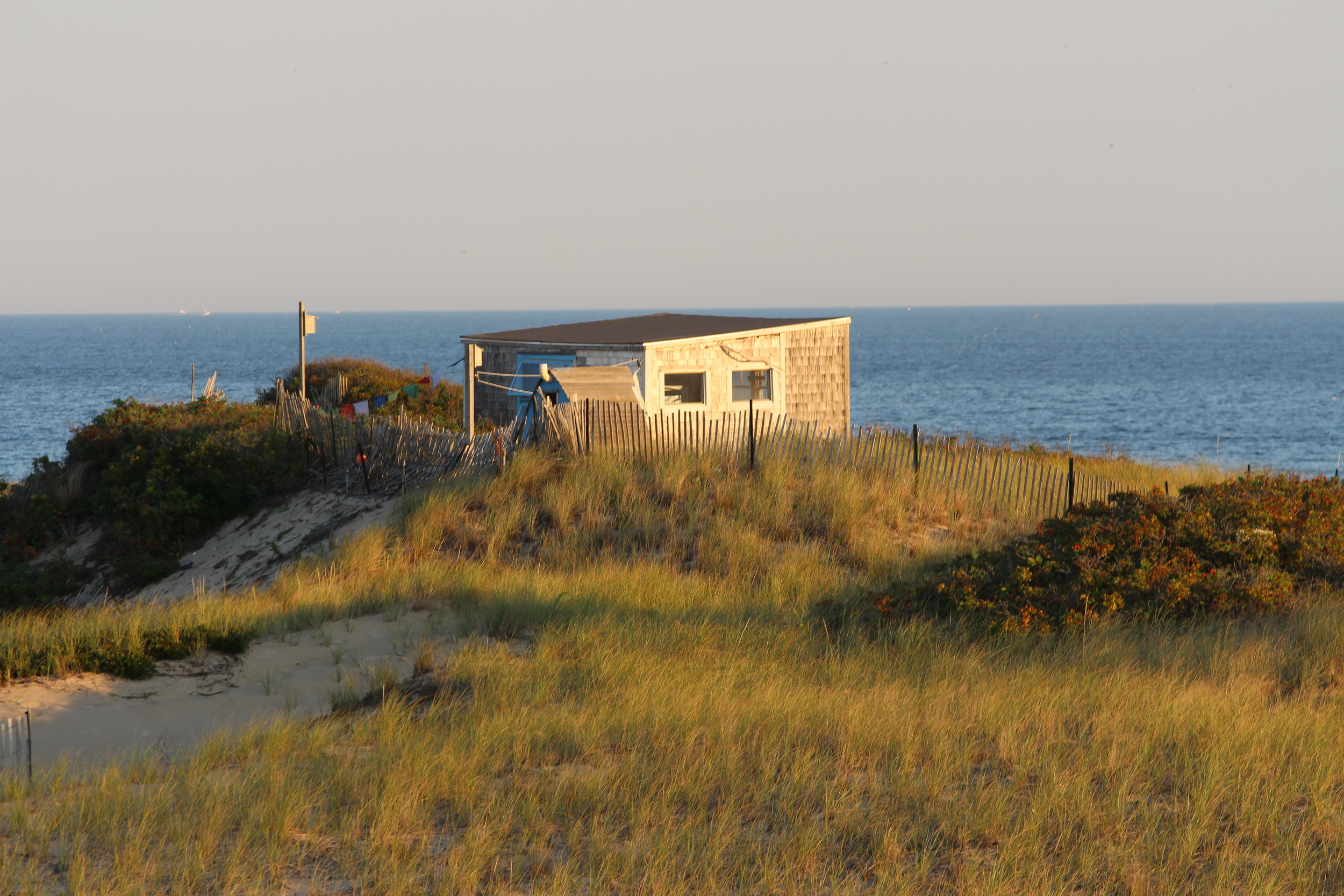 The Margo Gelb Shack hugging the horizon in the distance.