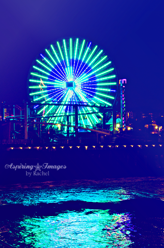 California - Santa Monica Pier Ferris Wheel by Aspiring Images by Rachel