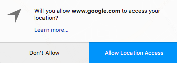 allow google to access your location