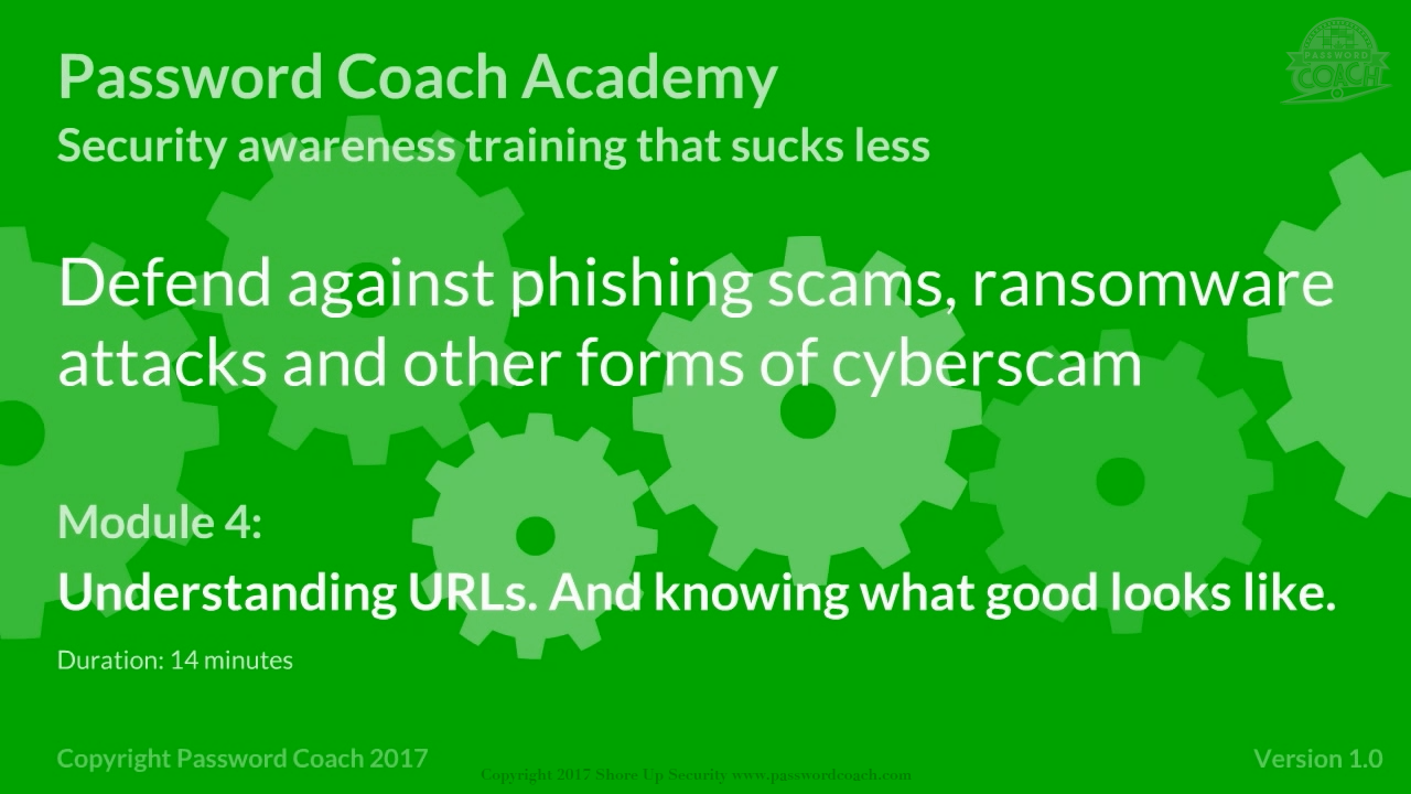 Module 4 – Understanding URLs. And knowing what good looks like.