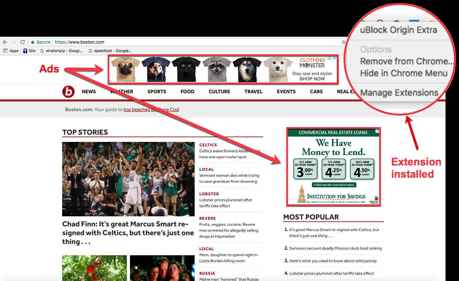 Somehow boston.com gets around uBOs ad-blocker bypass blocker