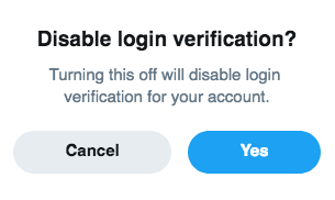 If you disable SMS authentication on Twitter you disable 2FA entirely. That's rubbish.