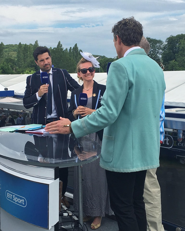 Henley Royal Regatta - Broadcast on BT Sport at Henley Royal Regatta with Olympian and oldest-Boat Race winner James Cracknell where we discussed our picks of the days, what it's like coxing on the course, and 7Seas Rowing Club! He flattered me so much on my work bringing my internationals to world events like Holland Beker and Henley and doing well after 3 days rowing together!