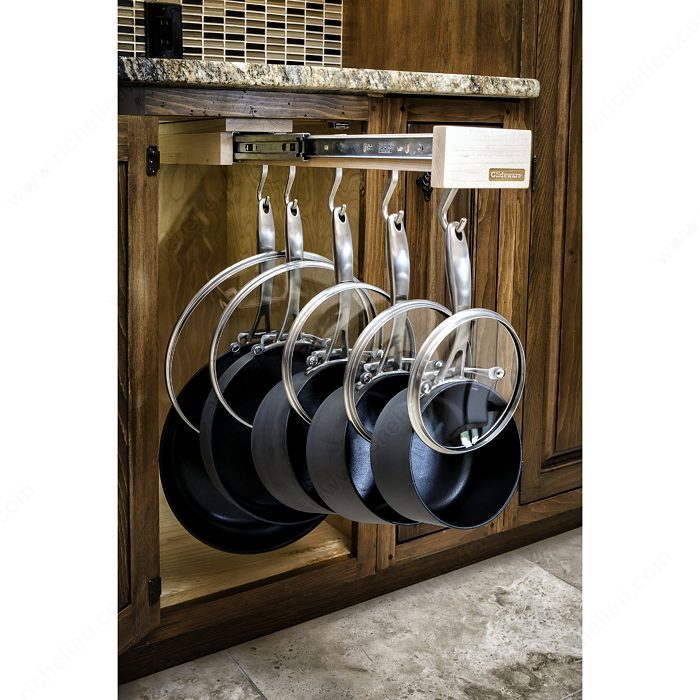 Hanging Cookware Pullout by Glideware  (Photo Credit: Glideware)