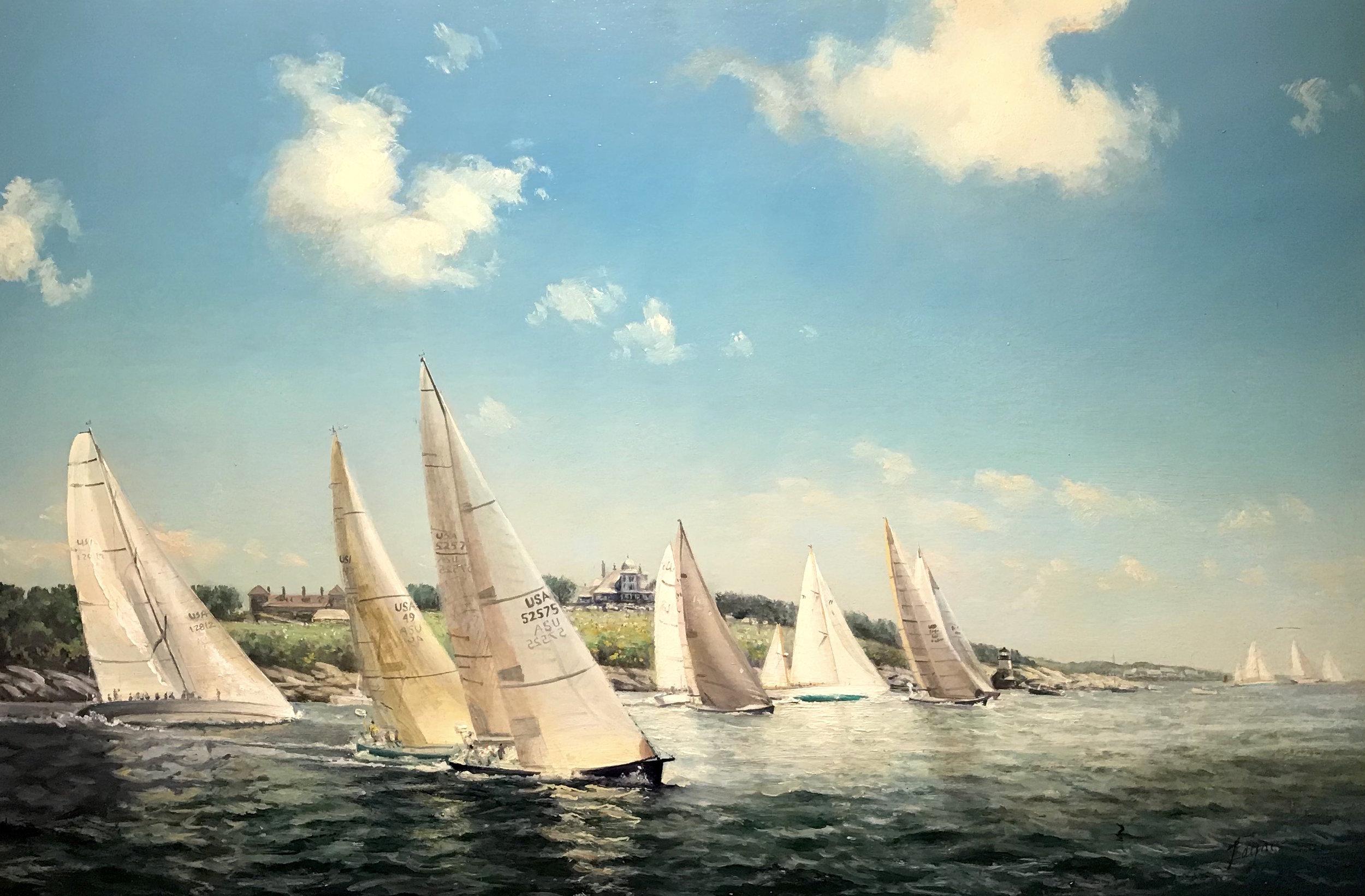 Peter Arguimbau, The Start,Newport to Bermuda Race