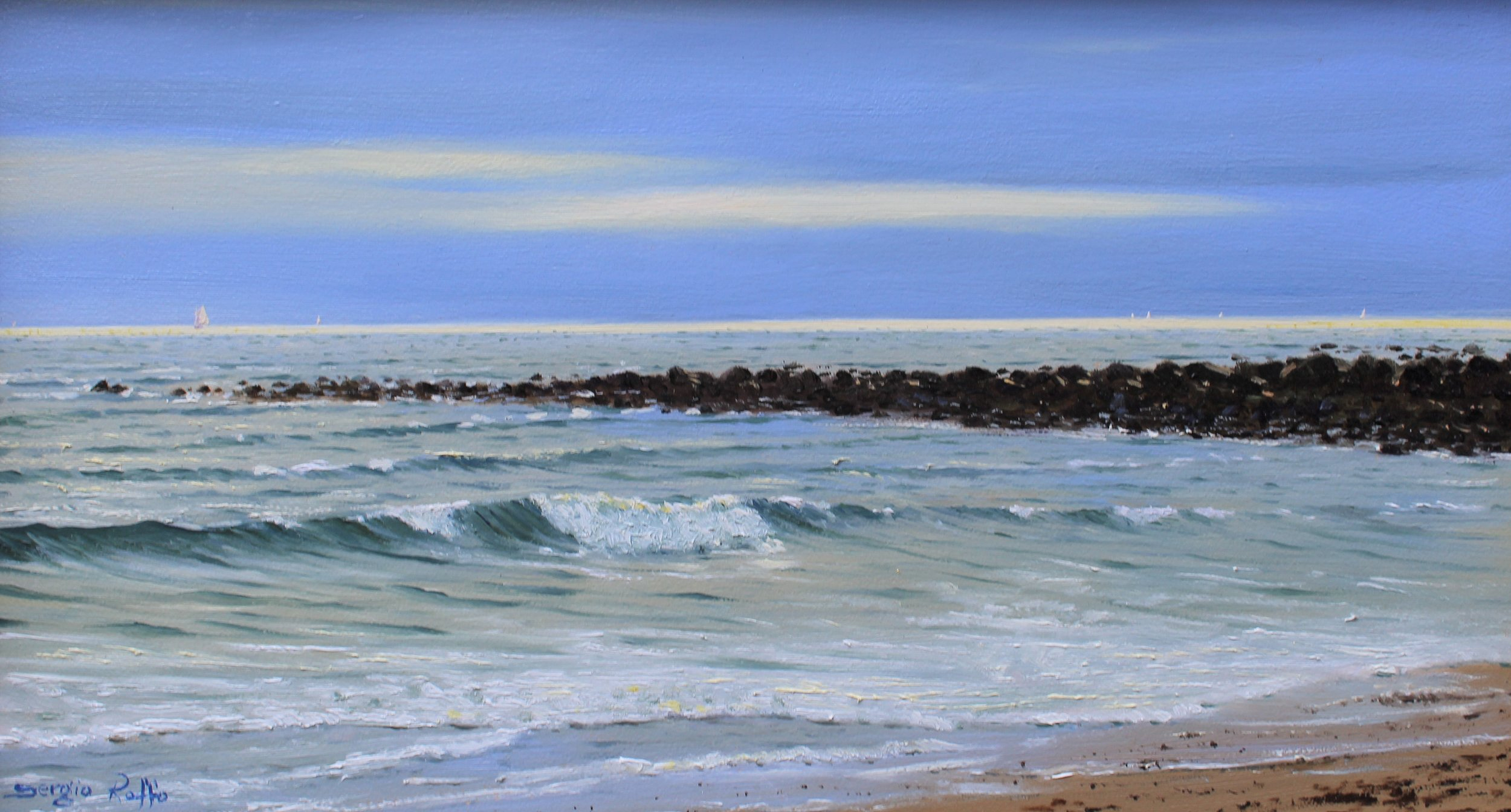 Jetties    Oil on panel  10 x 18 inches