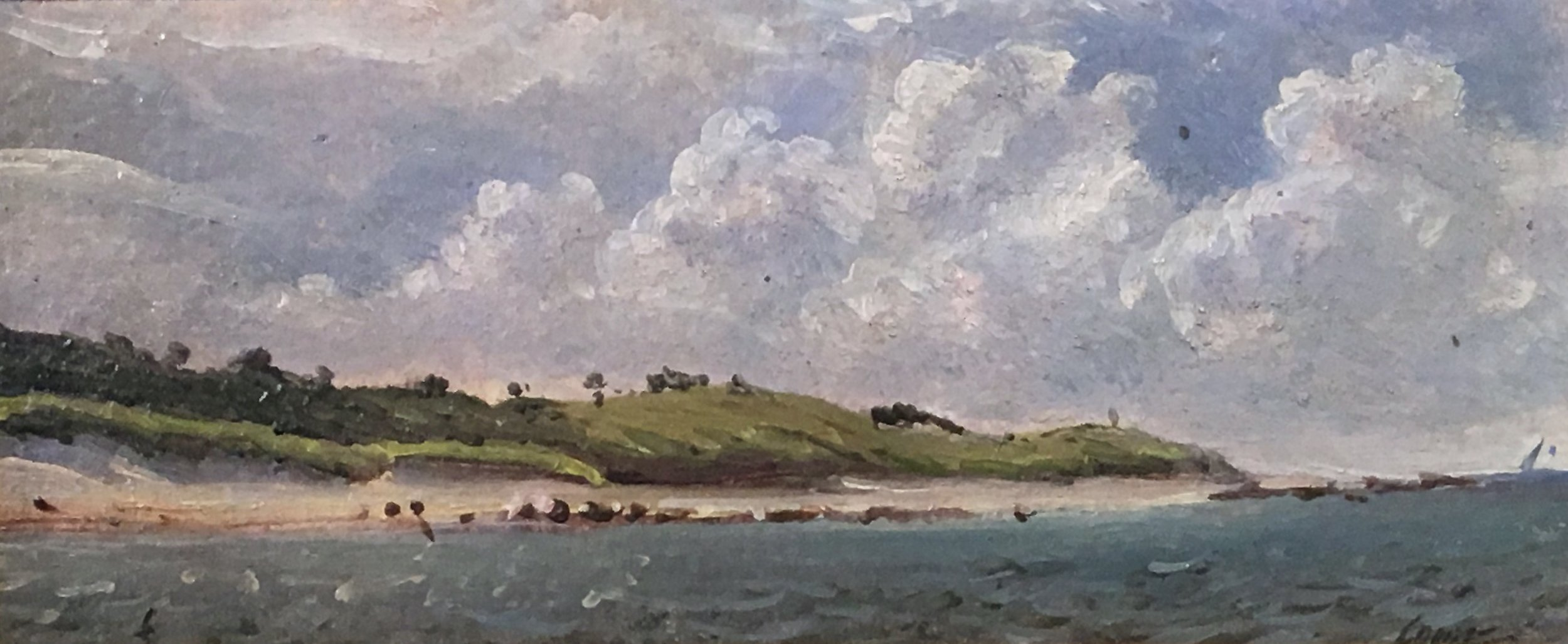 PETER ARGUIMBAU    Quick's Hole    Quick's Hole is the passage between Vineyard Sound and Buzzards Bay.  5 x 12 inches